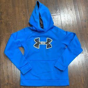 Under Armour bright blue hooded sweatshirt